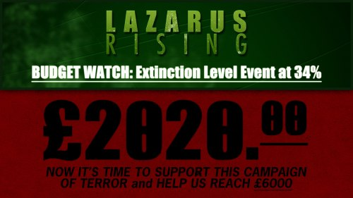 Lazarus Rising's Budget is at 34% ELE. Please Support the movement by Donating cash or kind!