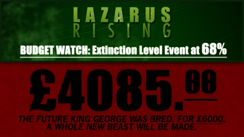 Budget Watch: Extinction Level Event #ELE at 68%. #deadinsideRise @Lazarus_Rising_
